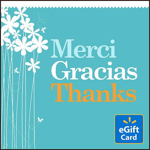Merci Gracias Thanks Walmart eGift Card