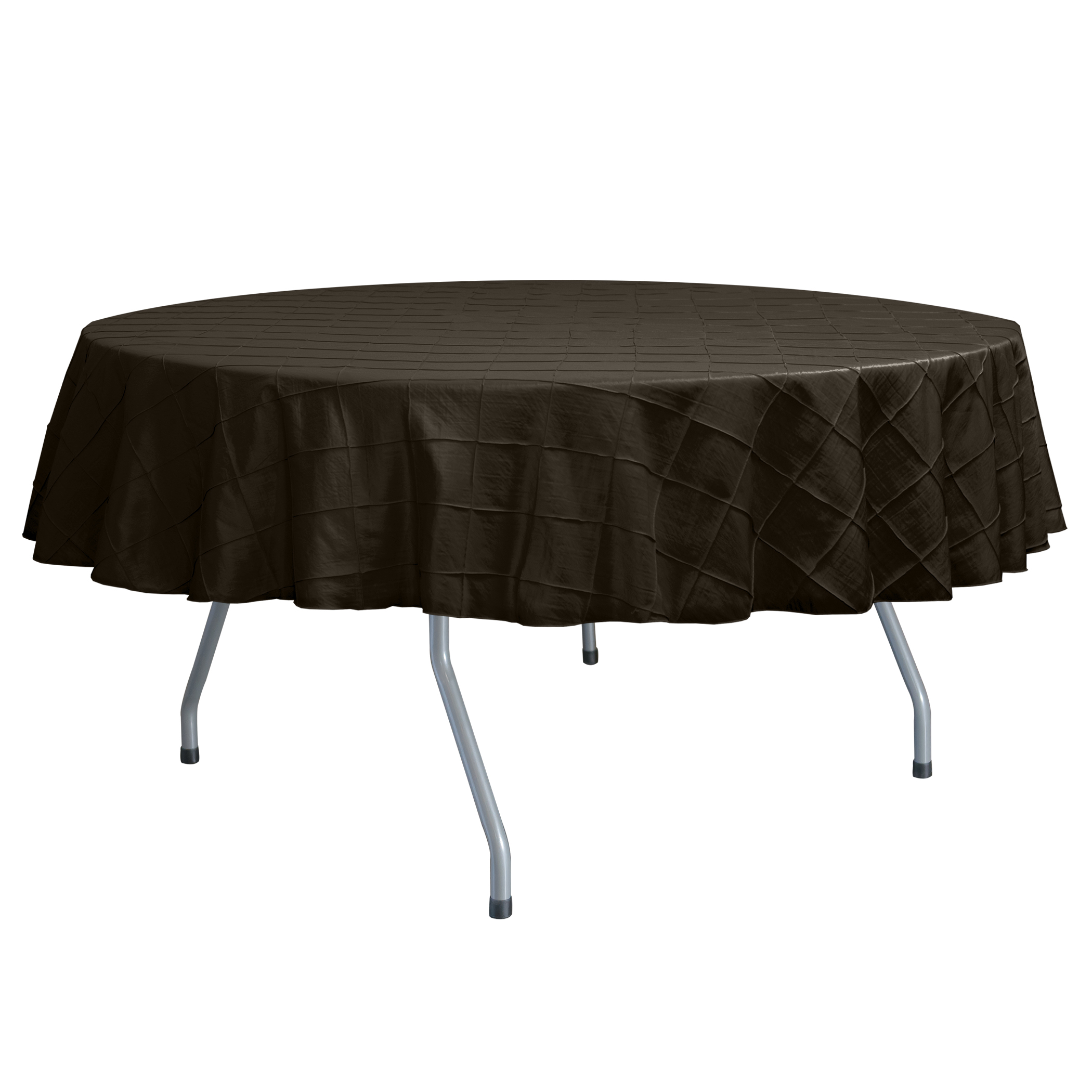 Ultimate Textile Embroidered Pintuck Taffeta 60-Inch Round ...