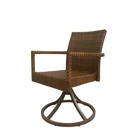 Panama Jack Outdoor Swivel Dining Chairs