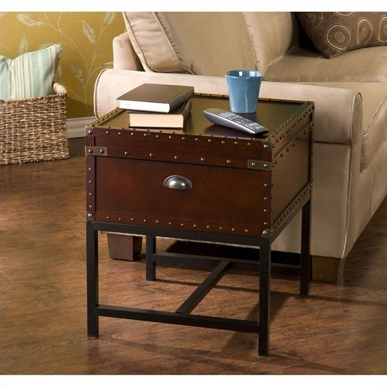 Southern Enterprises Yorkshire Storage End Table, Espresso