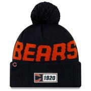 Chicago Bears New Era 2019 NFL Sideline Road Official Logo Sport Knit Hat - Navy - OSFA