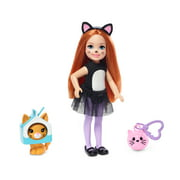 Barbie Club Chelsea Dress-Up Doll in Cat Costume, 6-Inch with Red Hair