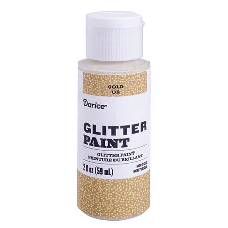 Embellish your canvas, paper, and wood crafts with this versatile gold glitter acrylic paint. It cleans up easily for convenient