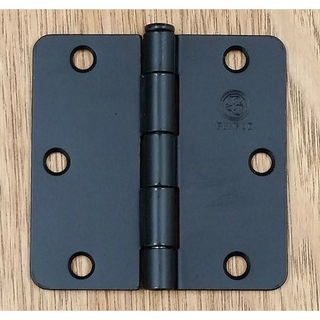 Black Frame Hinges - Black Door Hinges 3.5 Inch with 1/4 Inch Radius Penrod Interior- 2 Pack