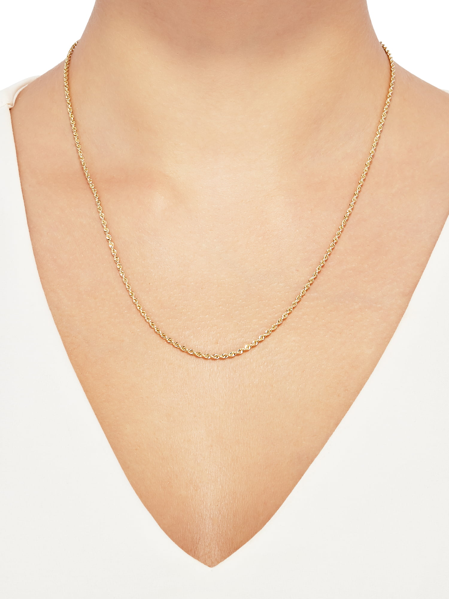 979353bee4b69 Women's 10KT Yellow Gold 2.0mm Rope Chain Necklace, Simply Gold