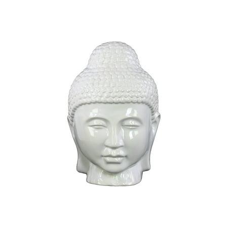 Urban Trends Collection: Ceramic Buddha Head Gloss Finish