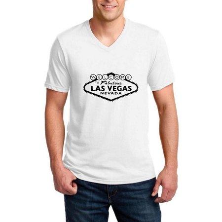 Las Vegas Weather Halloween Weekend (Welcome to Las Vegas Men V-Neck Shirts Ringspun)