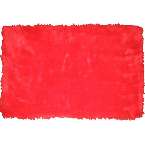 L.A. Rugs Flokati Red Area Rug