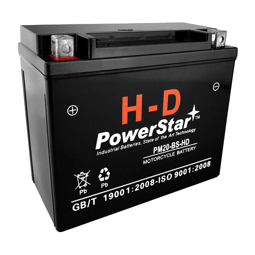 powerstar® h-d ytx20-bs motorcycle battery for harley-davidson