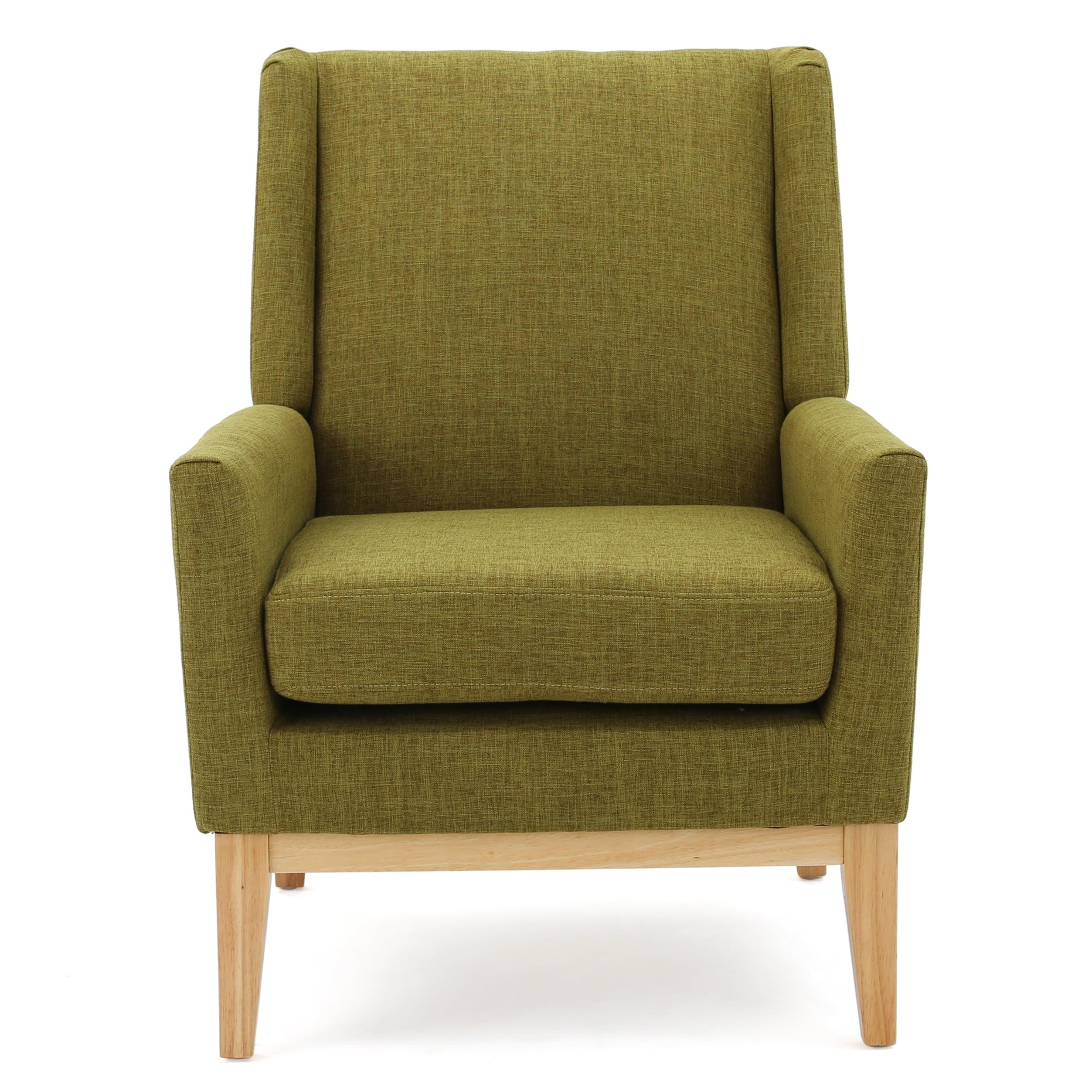 Archibald Mid Century Modern Fabric Accent Chair, Green