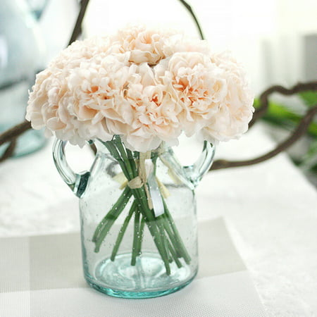 - Womail Artificial Silk Fake Flowers Peony Floral Wedding Bouquet Bridal Hydrangea C