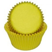 Yellow Mini Baking Cupcake Liners - 100 Count - National Cake Supply
