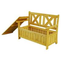 Leisure Season Bench with Storage, Medium Brown