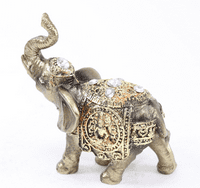 """Brand New Feng Shui 4"""" Bronze Color Elephant Trunk Statue Wealth Lucky Figurine Gift Home Decor"""