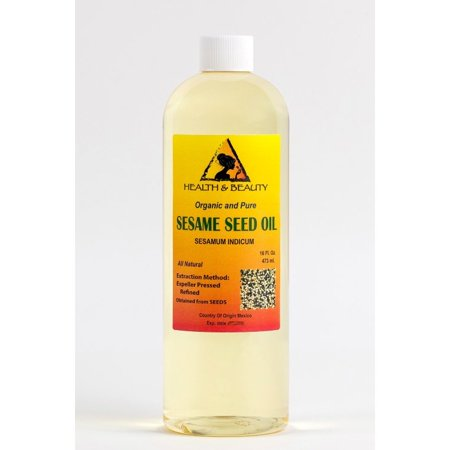 SESAME OIL REFINED ORGANIC CARRIER EXPELLER PRESSED 100% PURE 32 OZ
