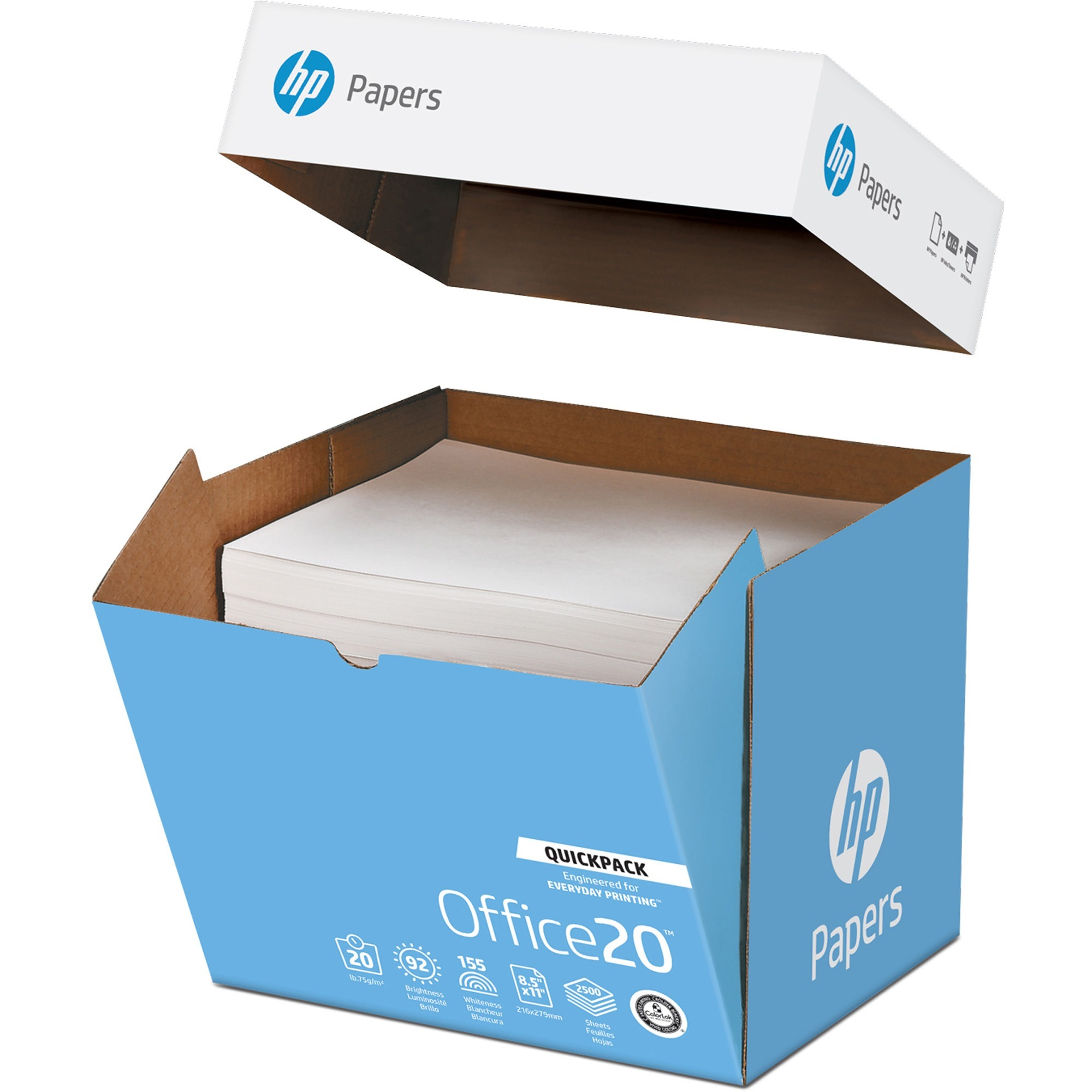 International Paper, HEW112103, HP Office Quickpack Paper, 2500 / Carton, White