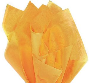 100 Sheets NOBLE GOLD Gift Wrap Pom Pom Tissue Paper 15x20