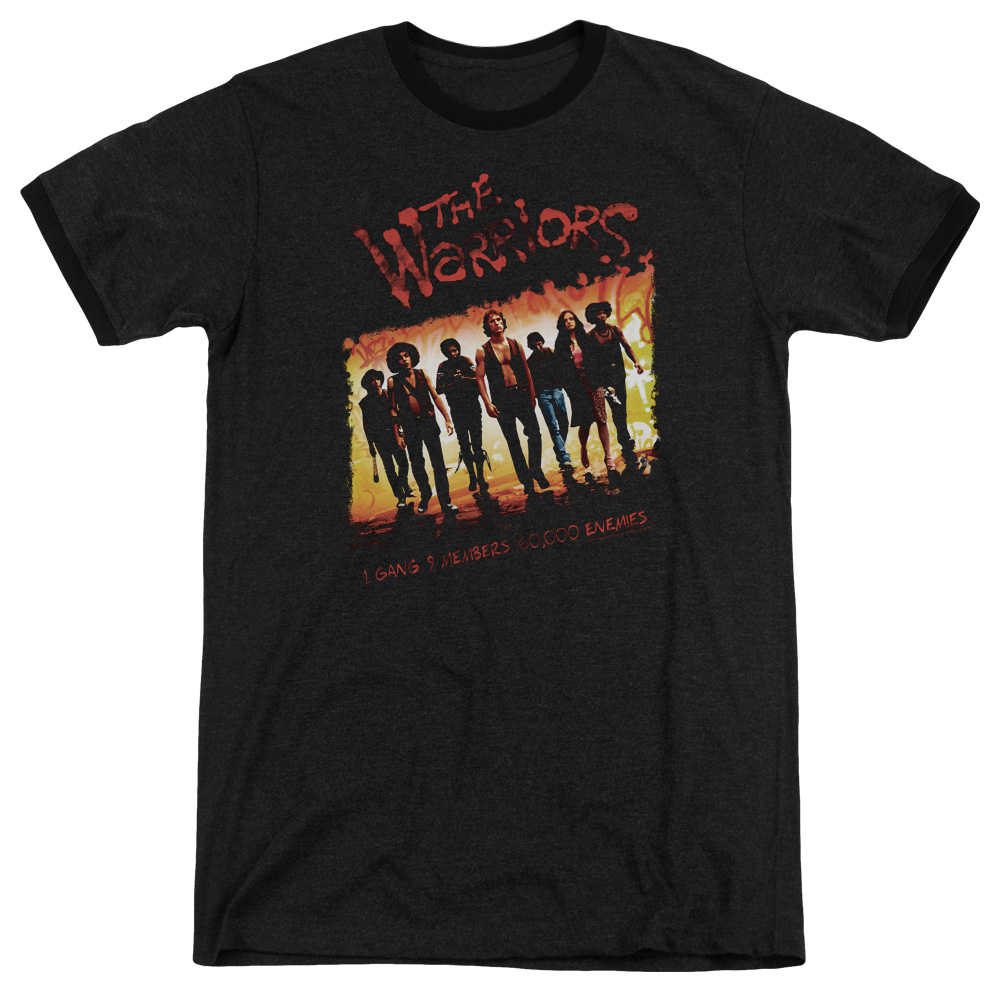 Warriors One Gang Mens Adult Heather Ringer Shirt