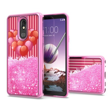 For LG Stylo 5 Case - Wydan Liquid Glitter Shockproof TPU Protective Slim Bling Rubber Phone Cover