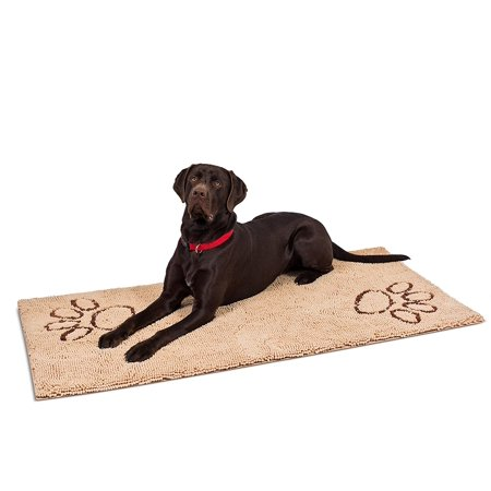 Internet's Best Chenille Dog Doormat - 60 x 30 - Absorbent Surface - Non-Skid Bottom - Protects Floors -