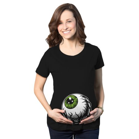 Maternity Eyeball Funny Halloween Costume Tee Pregnancy Announcement Baby Bump T shirt - Creative Halloween Pregnancy Announcements
