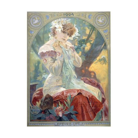- Sarah Bernhardt in the Role of Princess Lointaine, 1904 Print Wall Art By Alphonse Mucha