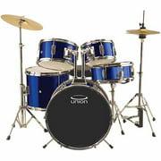 Union UJ5 5-Piece Junior Drumset w/ Hardware, Cymbals & Throne - Dark Blue