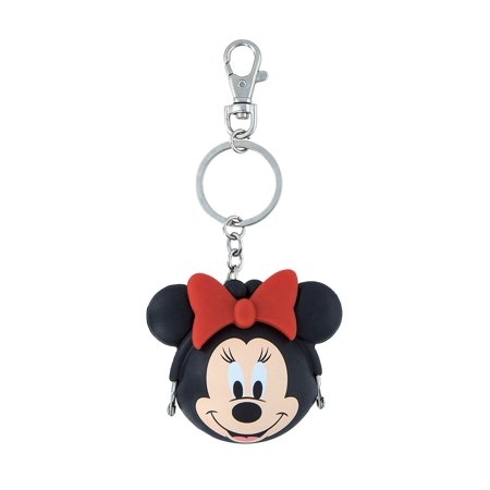Disney Parks Minnie Mouse Coin Purse Silicone Keychain New with - Jitney Bag