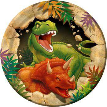 Dinosaur Adventure Party Supplies 24 Pack Dessert Plates - Dinosaur Plates