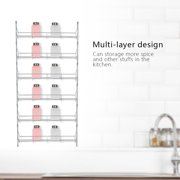 Yosoo Spice Standing Rack, Wall Mount Spice Storage Organizer Pantry Kitchen Standing Rack Shelf Holder US, Spice Shelf