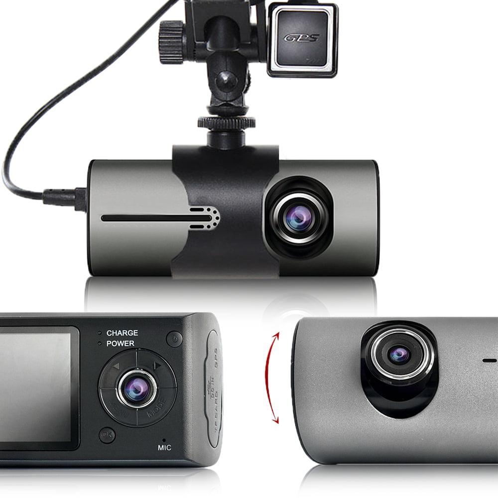 "Indigi XR300 Car DVR Dash CAM + 2.7"" LCD + Dual lens (Front & Back) + G-Sensor Recording + GPS Tracker"