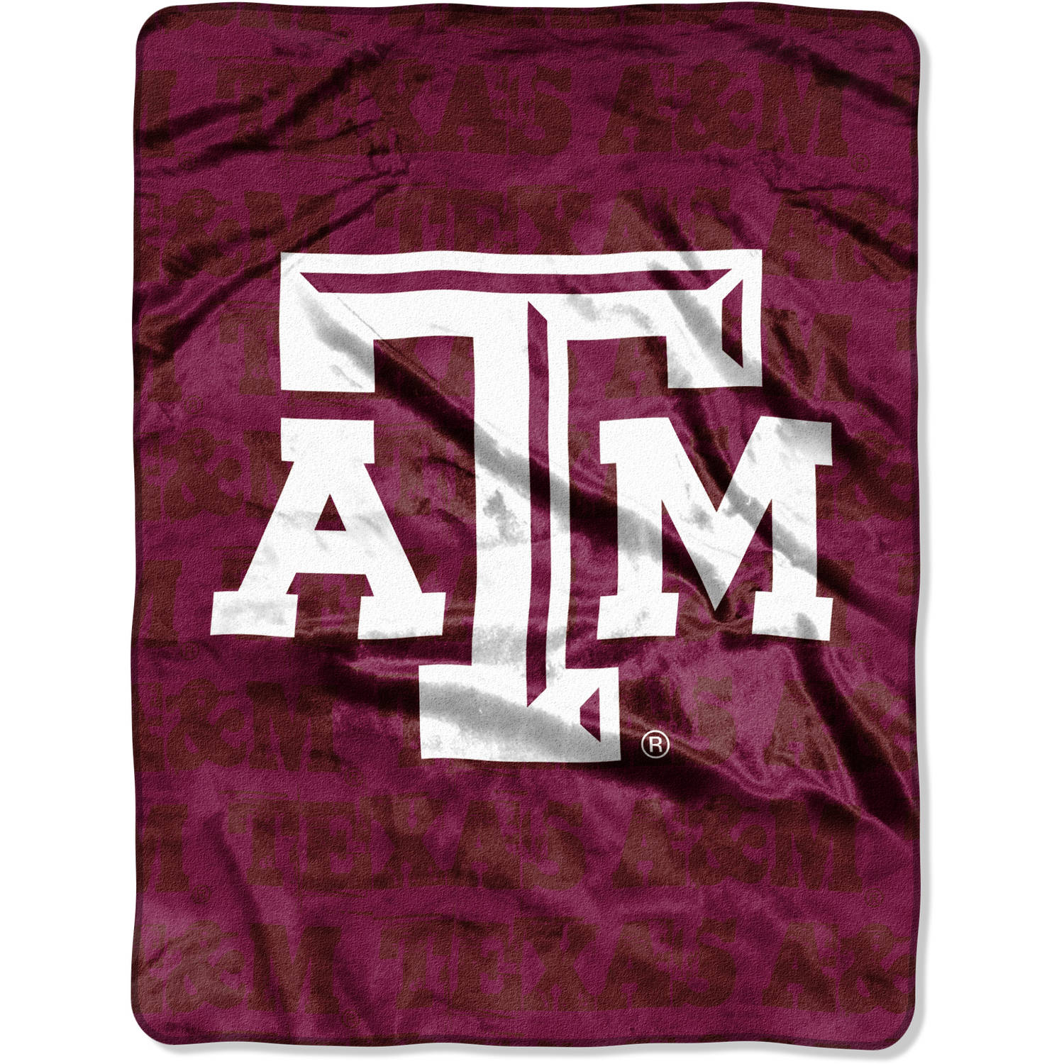 "NCAA Texas A&M Aggies 46"" x 60"" Micro Raschel Throw, 1 Each"