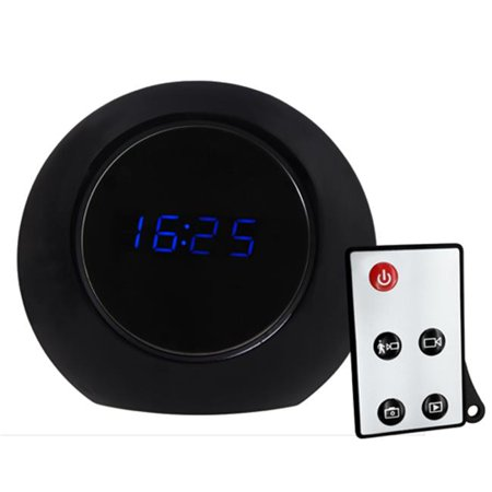 Ankaka A20525 2nd Generation Multifunctional R-C Alarm Clock, Motion Detection Spy DVR with High Resolution & Long Recording Time, Black