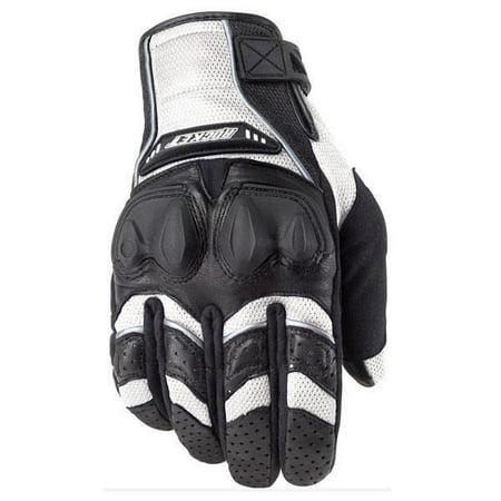 Joe Rocket Joe Rocket 'Phoenix 4.0' Mens White Leather/Textile Motorcycle Gloves White Small