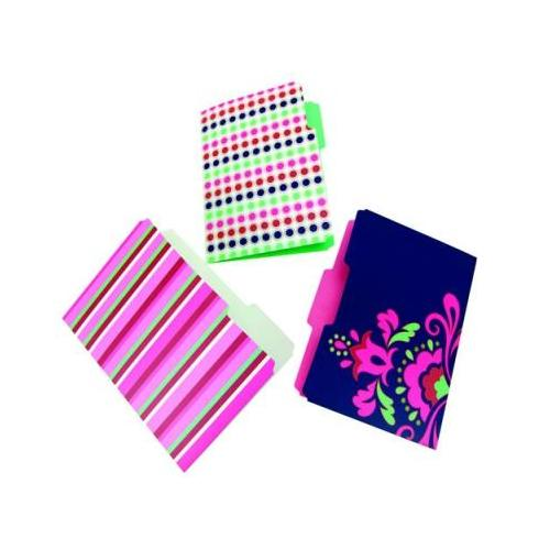 Workstyle Simply Posh File Folders, Assorted Designs, 6 Pack, 12 per Case WLJ...