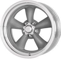 American Racing classic torq thrust ii one piece 15x8 5x120.65 0et 83.06mm mag gray machined lip wheel