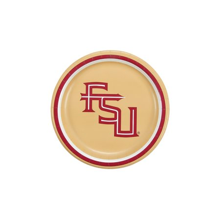 Ncaa Florida State Dessert Plates - Party Supplies - Licensed Tableware - Licensed Plates & Bowls - 8 Pieces