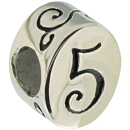 Connections from Hallmark Stainless Steel Number 5 Charm