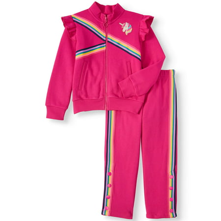 Unicorn Track Jacket & Taped, 2-piece Outfit Set (Little Girls & Big Girls) (Track Outfits)