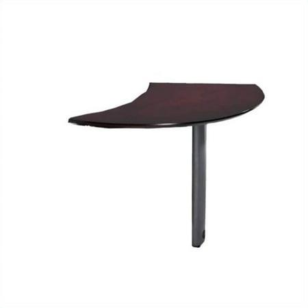 Mayline Napoli Curved Desk Left Extension in (Curved Desk Extension)