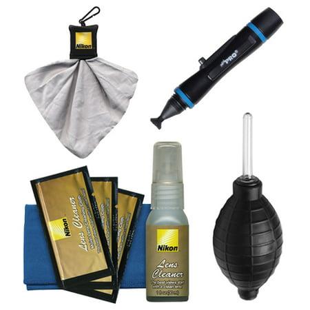 Nikon Advanced Digital Camera with Interchangeable Lens Cleaning Kit with Clothes, Blower, Spudz & Lenspen for 1 Series J1, J2, J3, S1 & V1, V2, AW1