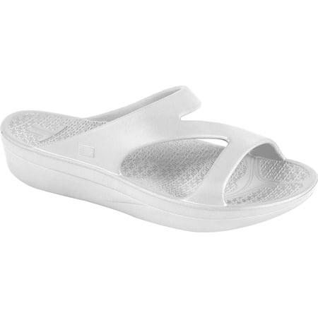 d84d5fb20c763a Telic - Telic Z-Strap Recovery Slide Sandal - Women s - White - Walmart.com