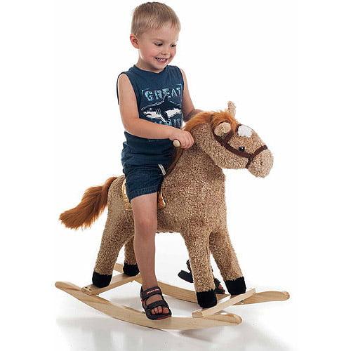 TRADEMARK GAMES INC Happy Trails Plush Rocking Horse
