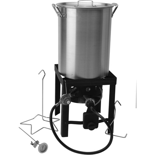 30 Quart Propane Turkey Fryer Set Walmart Com