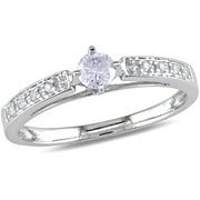 1/4 Carat T.W. Diamond Engagement Ring in 10kt White Gold