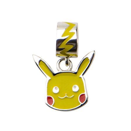 Pokemon Happy Lightning Bolt Pikachu Sterling Silver Dangle Charm