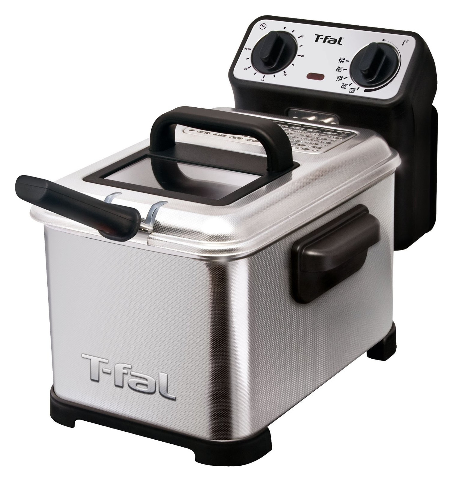 T-fal, FR4049001, Family Pro 3.3-Liter Deep Fryer, Stainless Steel, Silver