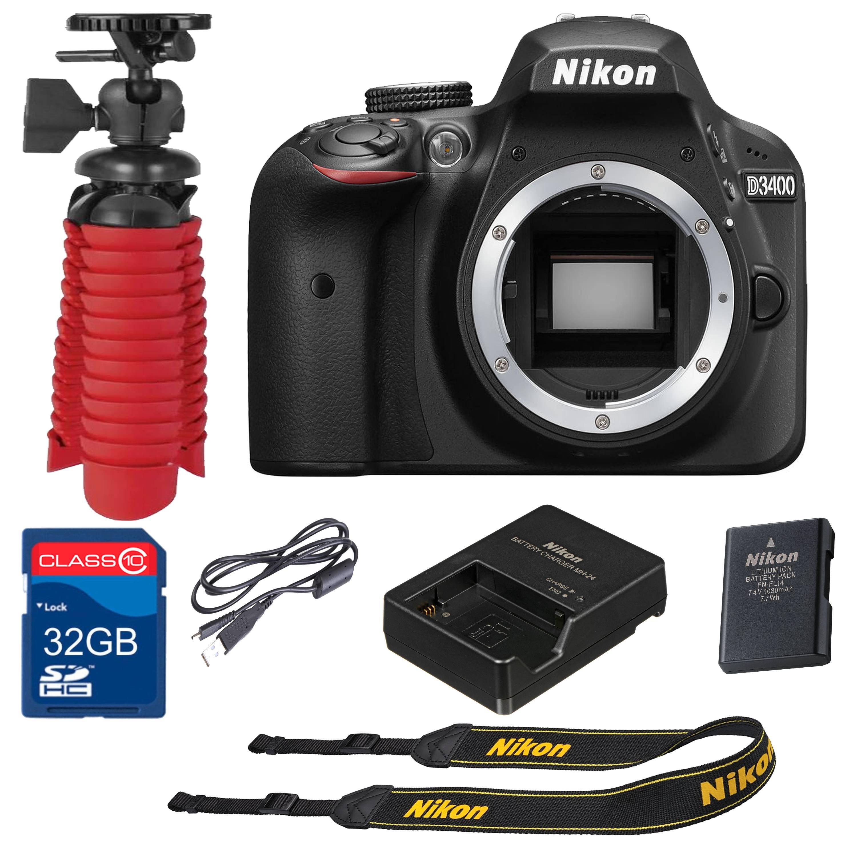 Nikon D3400 Digital SLR Camera  24.2 Megapixels  Body Only (Certified Refurbished)
