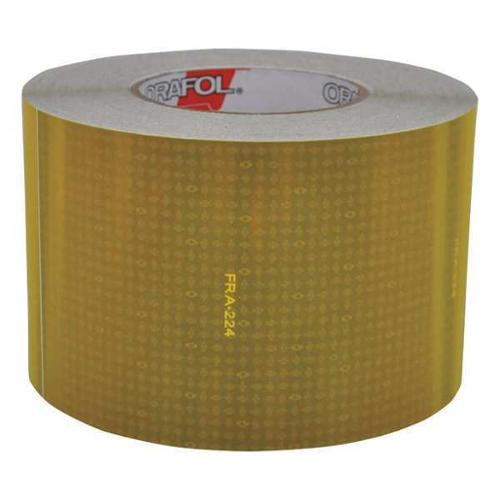 REFLEXITE 18606 Reflective Tape, W 4 In, Yellow