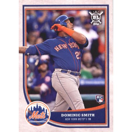 2018 Topps Big League #34 Dominic Smith New York Mets Rookie Baseball Card - -
